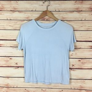 American Eagle Soft & Sexy Rib Tee Shirt Blue M